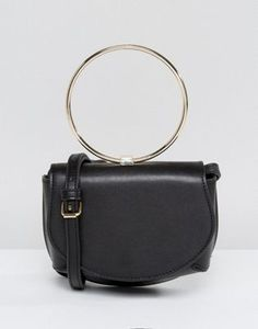 42c1fd5e160 ASOS Ring Detail Saddle Cross Body Bag Leather Handbags, Saddle Handbags,  Pu Leather,