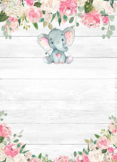 Shop Rustic Elephant Baby Shower Invitations for a Girl created by PartyPrintery. Baby Girl Shower Themes, Girl Baby Shower Decorations, Baby Shower Invites For Girl, Shower Baby, Tarjetas Baby Shower Niña, Invitaciones Baby Shower Niña, Baby Shower Templates, Baby Shower Invitation Templates, Shower Invitations