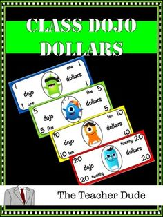 Class Dojo DollarsThese are classroom economy printable dollar cutouts that are used with the online classroom management system, Class Dojo. They are printed 6 to a page for easy production. For best results, print out on colored card stock pages and cut out for distribution for the students.