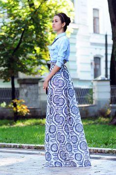 (Olga Skazkina skirt similar here, Mango shirt, Mango ring, Aldo necklace, MiaMay heels)