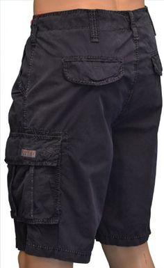 True Religion Brand Jean's Men's Samuel Cargo Shorts Navy