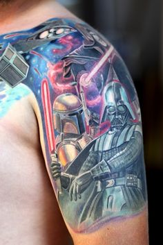 star wars tattoos | Pin Mario Jedi Star Wars Tattoo Loaders Designs Tribal On Pinterest