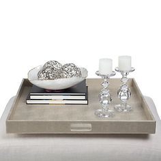 To ensure a chic look while entertaining, serve your guests on our elegant Champagne Largo tray.  #ZGallerie  #Tray