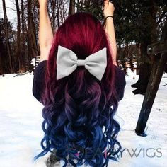 Gorgeous Red and blue hair