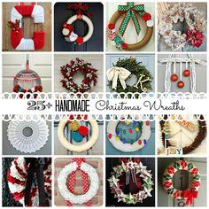 25+ Handmade Christmas Wreaths via createcraftlove.com #wreaths #christmas