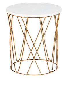 Lena Copper Side Table | M&S