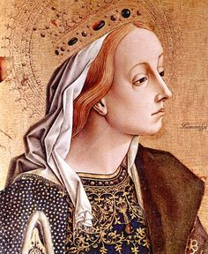 Carlo Crivelli (1430/35- before 1500). Maria Magdalena. Saint Catherine of Alexandria - Both details, Saint Francis polyptych, ca. 1470