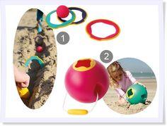 Das klassische Boule-Spiel ist hier strandtauglich gemacht worden und bringe die Kinder im Spiel um die rote Kugel zusammen. Eine tolle Idee für den nächsten Strandurlaub.