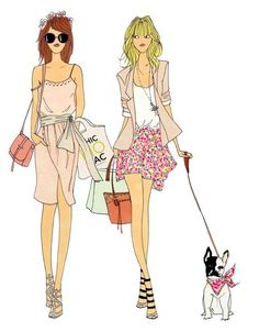Fashion mums by Angelin Melin #Fashion #Illustration