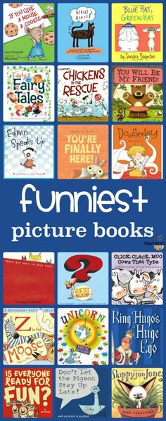 GREAT list of the funniest picture books for kids Get ready to laugh, chortle, giggle, and chuckle. Here are my favorite funny picture books for kids. I hope you love them and read them many, many times. Good Books, Books To Read, My Books, Teen Books, Preschool Books, Book Activities, Sequencing Activities, Preschool Bulletin, Literacy Activities
