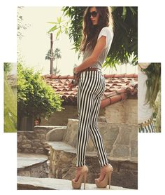 Striped jeans, like these Hudson striped Krista jeans ($154), are one of Spring's freshest denim trends, especially black and white pairings. Just keep your top half simple so you don't create a fashion clash.