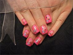Day 56: Pink Flower Nail Art