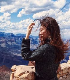 """75 Likes, 6 Comments - KAREN  WANG NEW YORK (@whenilowermylamp) on Instagram: """"🎵🎷I love the free, fresh, wind in my hair. Life without care! 🎷🎵 Jazzy throw back  #grandcanyon…"""""""