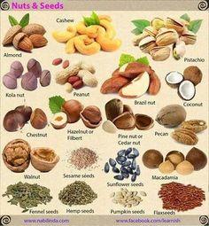 Vocabulario frutos secos y semillas