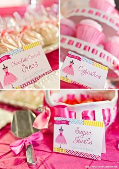 Dress-Up theme party - printable buffet cards from Chickabug