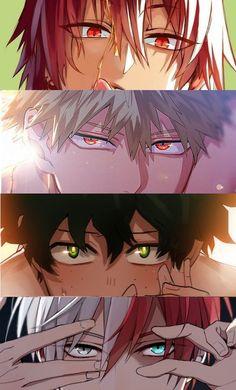 My hero academia // bnha // eijiro kirishima // red riot // katsuki bakugo // kacchan // izuku midoriya // deku // shoto todoroki Anime W, Comic Anime, Otaku Anime, I Love Anime, Kawaii Anime, Me Me Me Anime, Boku No Hero Academia, My Hero Academia Memes, Hero Academia Characters