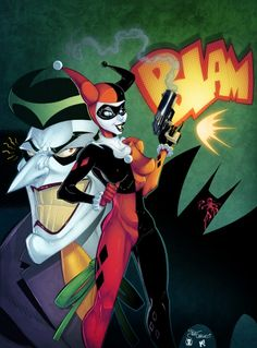 Harley Quinn and The Joker by Pat Carlucci, colours by Mike Henry Batman Comic Books, Batman Comics, Comic Art, Dc Comics, Batman Cartoon, Joker Comic, Mike Henry, Batgirl, Catwoman