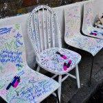 Street Art Chairs Shoreditch Digital Storytelling, Outdoor Chairs, Outdoor Decor, Street Art, Ocean, The Ocean, Garden Chairs, Sea