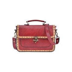 Openwork Lace Red Briefcase | pariscoming