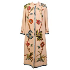 Crewel Embroidered Coat | From a collection of rare vintage coats and outerwear at http://www.1stdibs.com/fashion/clothing/coats-outerwear/