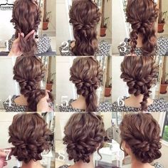 What I want to do for the ball. updo diy for medium length hair - Google Search by mercedes bernal roig