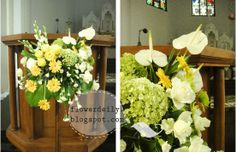 easter decorations for church sanctuary | The flower arrangement in front of the psalmist, 552x357 in 75.6KB