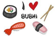 Sushi Applique Set - Lynnie Pinnie