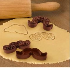 Mustache Cookie Cutter-Ha!  Kristy- Maybe instead of a Halloween party you should have a stache party . . . prizes for the best real mustache, best faux mustache, etc.