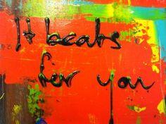 canvas met songtekst laten maken Painting, Painting Art, Paintings, Painted Canvas, Drawings