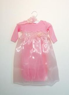 Persnickety Baby Pink Chloe Gown & Headband