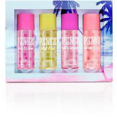 Victoria's Secret PINK Spring Break Body Mist Gift Box found on Polyvore