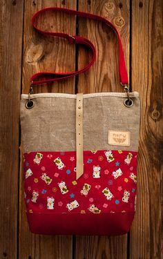 Neko bag, shoulder bag, Japanese cotton bag.. Ft17,000.00, via Etsy.