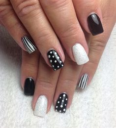 Black And white by Ardelle41 - Nail Art Gallery nailartgallery.nailsmag.com by Nails Magazine www.nailsmag.com #nailart