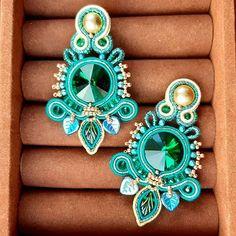 Soutache Earrings, Jewelries, Shibori, Beaded Jewelry, Beading, Photo And Video, Studio, Stud Earrings, Manualidades