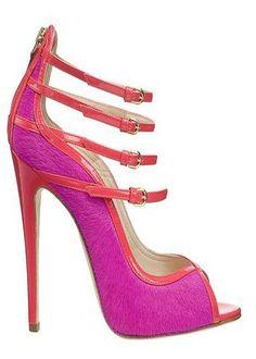 Heels For Women 2013 | Fur Inspired Color Block Heel Shoes for Women 2013