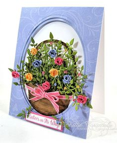 Kittie cards are so cheerful !! Impression Obsession Spiral Flower Set
