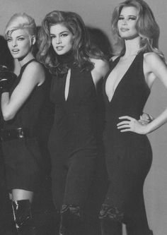 Linda Evangelista, Cindy Crawford & Claudia Schiffer for Versace (1991)