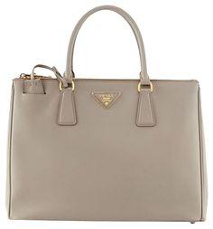 Prada Saffiano Double-zip Executive (argilla) Grey Tote Bag. Get one of cc6fd21b54f01