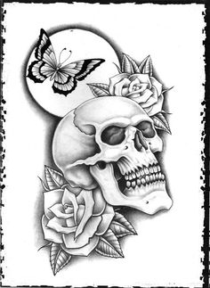 VK is the largest European social network with more than 100 million active users. Skull Candy Tattoo, Skull Rose Tattoos, Body Art Tattoos, Tattoo Drawings, Sleeve Tattoos, Ear Tattoos, Candy Skulls, Tatoos, Skull Coloring Pages