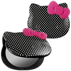 Hello Kitty Hello Pretty Compact Mirror Black.  For Ashley