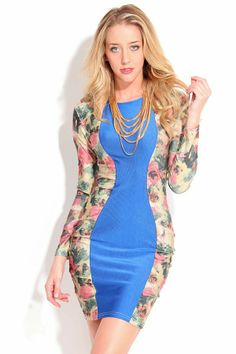 BLUE MULTI ROUND NECKLINE LONG SLEEVES DRESS,$29.99 #cutelife #sexygirls #sexywomen #fashionworld #worldoffashion #wanderable #fashionstyle #dress #dresses #springdresses #partydress #lacedresses #halterdresses #minidresses #spring #springcollection #cute #fun #2014 #springtime #springfling #springfun #2014spring #springbreak #springfun #funinthesun #dressing #partydressing
