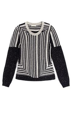 Vertical Stripe Black Knit Top by Michael van der Ham Black Knit, Vertical  Stripes, 1ca296ee0541