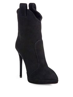 Giuseppe Zanotti - Western Suede Platform Ankle Boots - Saks.com