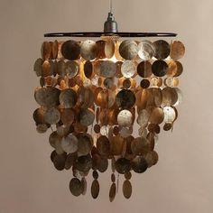 One of my favorite discoveries at WorldMarket.com: Capiz Hanging Pendant Lantern