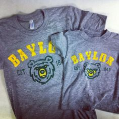 Big Bear and Little Bear matching shirts! (from Congress Clothing) #sicem #Baylor