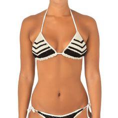 Billabong Bikinis - Billabong Rena Crochet Triangle Bikini Top - Sea Shell