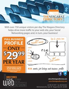 DANIMA has been powering Niagara's number one online business directory - The Niagara Directory - since 2001 Business Names, Business Logo, Online Business, Marketing Materials, Number One, Social Networks, Day, Join, Group