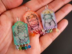 Oops, I Craft My Pants: Shrinky Dink Monster Pendants