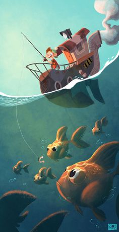 La pêche-aux-téléscopes - Site de phlox-illustration