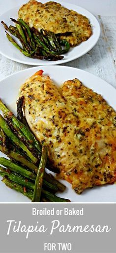 Tilapia Parmesan for two recipe is so easy and quick to prepare. I am not usually big on fish, but I absolutely love the flavor and ease of this Tilapia. It is a mild fish and the sauce on top is cheesy, golden brown and savory. This dish can be bake Tilapia Fish Recipes, Seafood Recipes, Cooking Recipes, Healthy Recipes, Recipes Dinner, Baked Tilapia Recipes Healthy, Easy Fish Recipes, Recipe For Baked Tilapia, Talpia Recipes